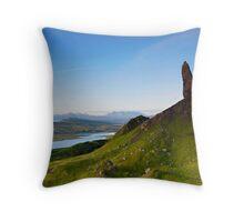 Sloping Storr Scene, Old Man Of Storr, Skye Throw Pillow