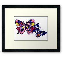 Pattern Butterflies Framed Print