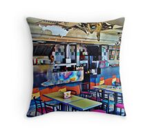 Burnt-out Fast Food Restaurant - London Riots 2011 Throw Pillow