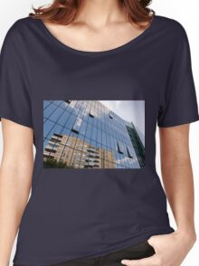 modern skyscraper with glass wall Women's Relaxed Fit T-Shirt