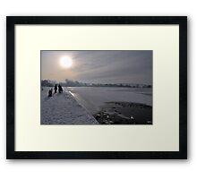 Winter Scene Frozen Lake Framed Print