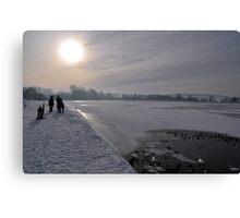 Winter Scene Frozen Lake Canvas Print