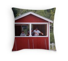 Judges Booth Throw Pillow