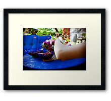 Summer, Set, Hand. Framed Print