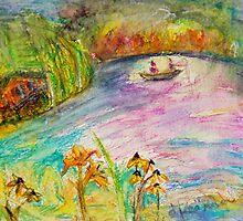 The Fishermen on Long Pond by Diane  Kramer