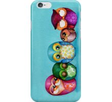 Fabric Owl Family iPhone Case/Skin
