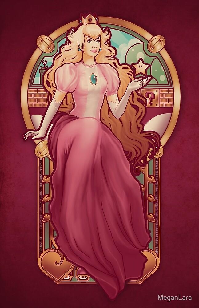 Princess Toadstool Nouveau by MeganLara