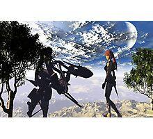 Lara meets Aiko. Photographic Print