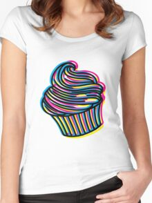CMYK Cupcake Women's Fitted Scoop T-Shirt