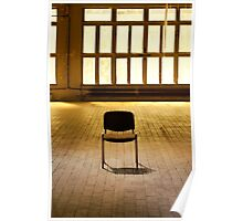 Lone chair empty hall  Poster