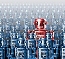 Robot Standing Out in a Crowd by Dale O'Dell