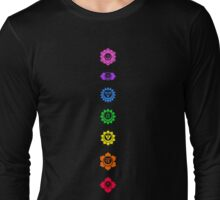 Neon Chakras Long Sleeve T-Shirt