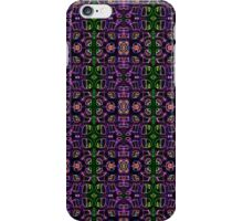 Grid pattern design in funky colours iPhone Case/Skin