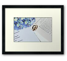 Let no one put assunder Framed Print