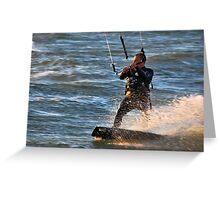 Kitesurfer Greeting Card