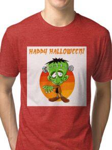 Frankenstein Halloween Tri-blend T-Shirt