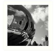 Bending Chicago Steel Art Print