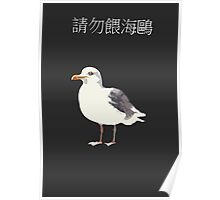 Don't feed the seagulls in Chinese Poster
