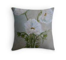 Wit kosmosse Throw Pillow