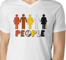 People 4 WORLD PEACE Mens V-Neck T-Shirt