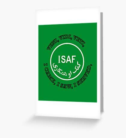 International Security Assistance Force ISAF VVV Shield  Greeting Card