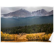 Mount Meeker and Longs Peak Autumn Scenic View Poster