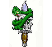 Snake n Skull Photographic Print