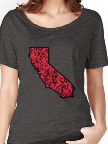 Cali With Red Bandana Women's Relaxed Fit T-Shirt