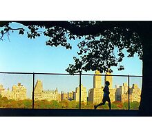 Central Park Runner Photographic Print