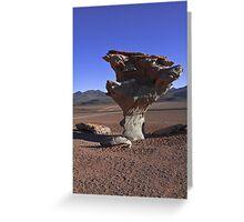 Arbol de Piedra (stone tree) - Siloli Desert, Uyuni, Salar, Atacama, Altiplano, Sud Lipez, Chile border, Bolivia, South america Greeting Card