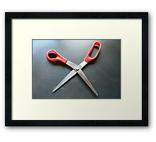 Dancing Scissors Framed Print