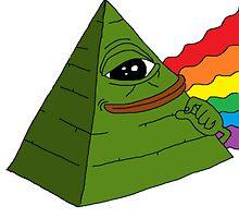 Rare Pepe Pyramid Rainbow by nomeremortal