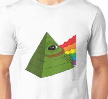 Rare Pepe Pyramid Rainbow Unisex T-Shirt