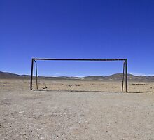 An old football abandoned ground in Uyuni, near the Salar salt arid desert in the Altiplano, South Lipez, Bolivia, South America by Thibaut PETIT-BARA