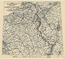 World War II Twelfth Army Group Situation Map February 5 1945 Photographic Print