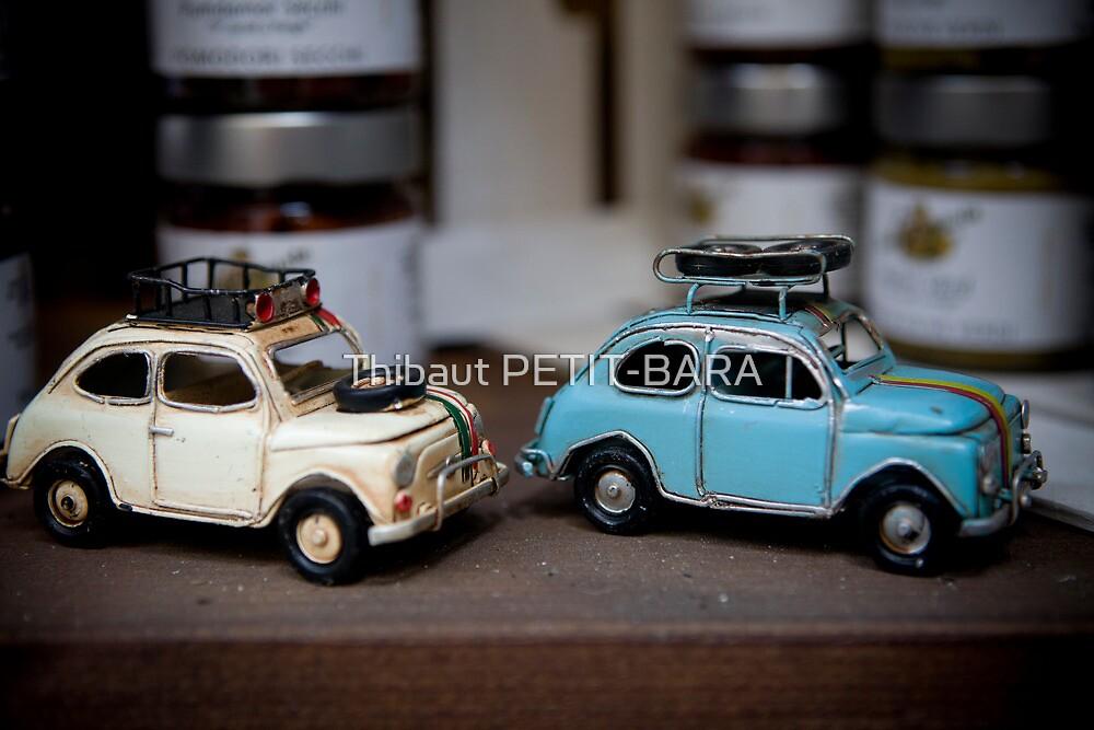 Old Italian Fiat 500 Cinquecento toys in a shop, Piazza Armerina, Sicily, Italy, Mediterranean sea, Europe, EU by Thibaut PETIT-BARA