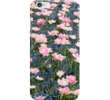 Pink Foxtrot tulips abstract iPhone Case/Skin