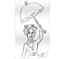 Mary Poppins Sketch Poster
