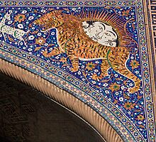 The Sher-Dor (Having Tigers) Madrasah designed by architect Abdujabor, Samarkand, Uzbekistan, Central Asia. by Thibaut PETIT-BARA