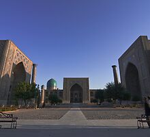 The Registan square, Samarkand, Uzbekistan, Central Asia.  by Thibaut PETIT-BARA