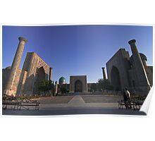The Registan square, Samarkand, Uzbekistan, Central Asia.  Poster