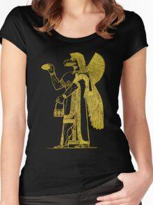 Anunnaki in Bronze Women's Fitted Scoop T-Shirt
