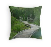Mysterious Woods Throw Pillow
