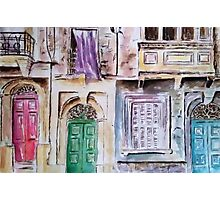 Maltese Facade Photographic Print
