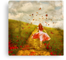 Her Yellow Brick Road Canvas Print