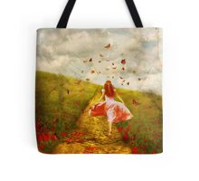 Her Yellow Brick Road Tote Bag