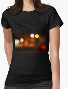 Abstract blurred image of round spots Womens Fitted T-Shirt