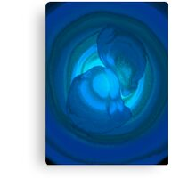 Rings of Blues Canvas Print