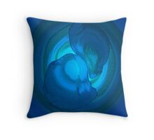 Rings of Blues Throw Pillow