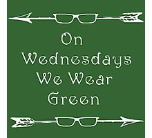 Arrow/Olicity: On Wednesdays We Wear Green Photographic Print